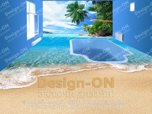 Дизайн интерьера комнаты с бассейном