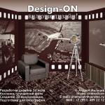 Дизайн интерьера детской «Комната пилота»